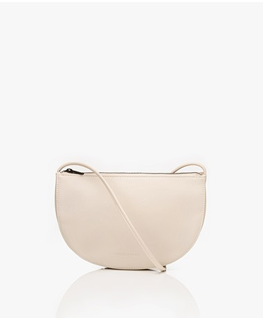 Monk & Anna Farou Half Moon Vegan Cross-Body Bag - Greige