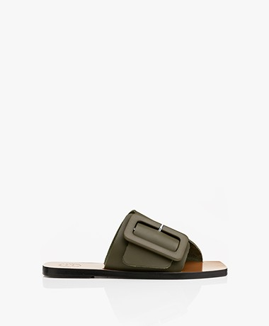 ATP Atelier Ceci Leather Buckle Sandals - Green