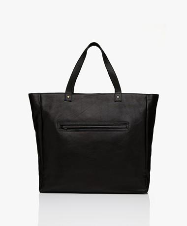 by-bar Big Leather Shopper - Black