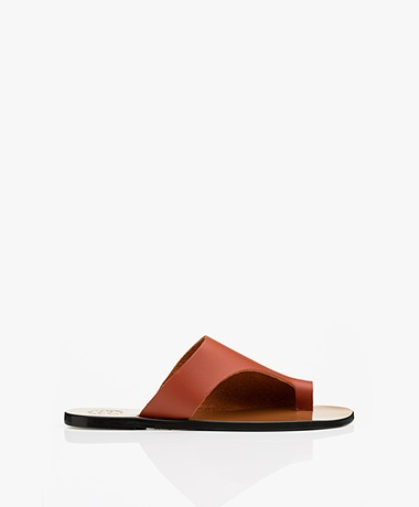 ATP Atelier Rosa Leather Sandals - Rust