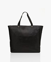 by-bar Big Leather Shopper - Black