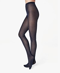 Wolford Sasha Mesh Tights - Navy Opal