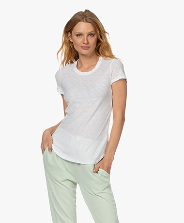 James Perse Supima Slub Jersey T-shirt - Wit
