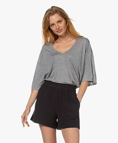 IRO Cappola Oversized Viscosemix T-shirt - Mixed Grey