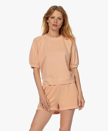Rails Lia Puff Sleeve Sweatshirt - Apricot