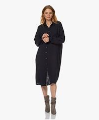 by-bar Doppia Cotton Muslin Shirt Dress - Midnight
