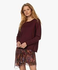 Sibin/Linnebjerg Maria Fine Knit Merino Sweater - Bordeaux