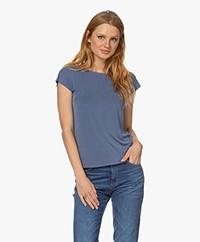 Plein Publique Le Calin Cupro T-shirt - Jeans Blue