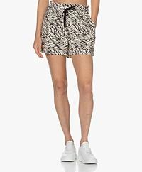 Rails Samara Tiger Pattern Shorts - Ivory/Black