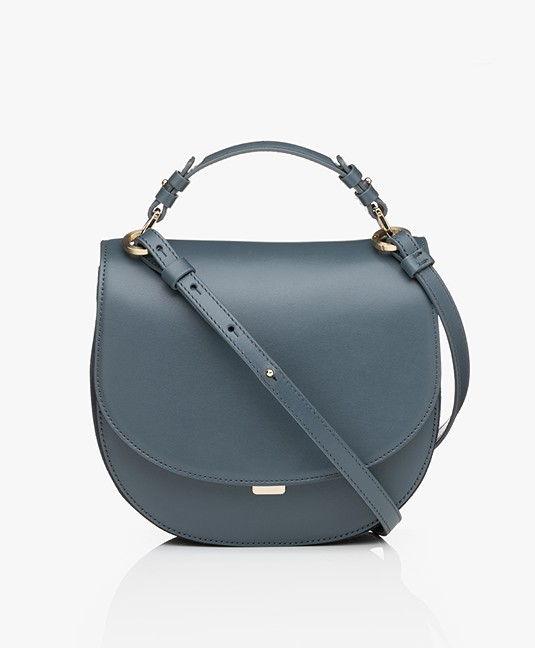 Filippa K Harley Saddle Leather Bag - Blue Slate