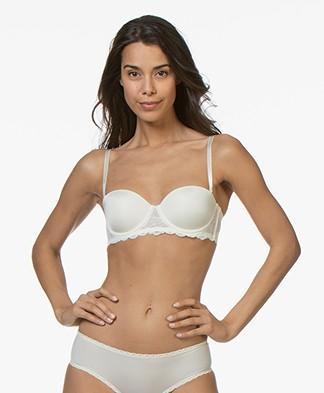 Calvin Klein Seductive Comfort Strapless Bra - Ivory