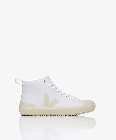 VEJA Nova Biologisch Katoenen High-top Sneakers - Wit/Pierre