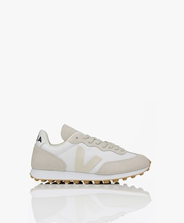 VEJA Rio Branco Alveomesh Suède Sneakers - Wit/Pierre Beige
