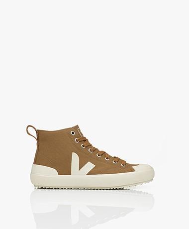 VEJA Nova Biologisch Katoenen High-top Sneakers - Kaki Bruin/Pierre