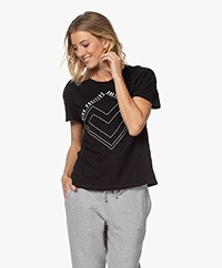 ba&sh Vallea Slub Jersey Print T-shirt - Zwart