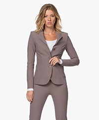JapanTKY Yuuka Tailored Travel Jersey Blazer - Taupe