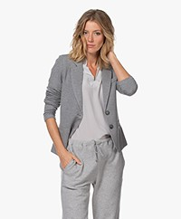 Repeat Tailored Jersey Blazer - Light Grey
