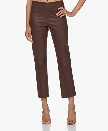 By Malene Birger Florentina Leather Pants - Chestnut