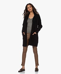 no man's land Open Mohair and Wool Blend Cardigan - Core Black