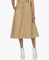 Closed Piper Paperbag A-line Midi Skirt - Sandstone