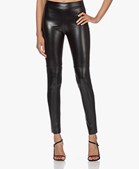 Wolford Estella Faux Leather Legging - Zwart