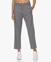 Drykorn Dispatch Checkered Wool Blend Pants - Grey