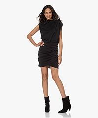 IRO Manaia Draped Jersey Dress - Black