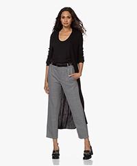 Drykorn Saira Long Rib Knitted Cardigan - Black