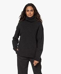 Filippa K Molly Wool Blend Turtleneck Sweater - Dark Grey