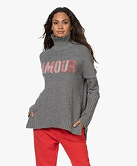 Zadig & Voltaire Alma Amour Turtleneck Sweater - Grey Melange