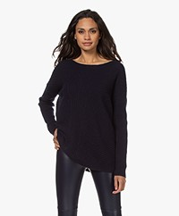 Repeat Oversized Organic Cashmere Sweater - Navy