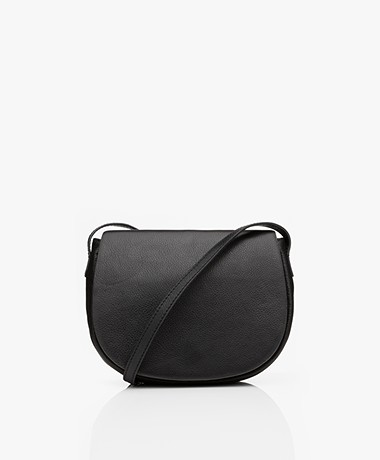by-bar Paris Leren Cross-body Tas - Zwart