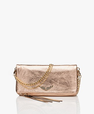 Zadig & Voltaire Rock Metallic Schoudertas/Clutch - Rose Gold