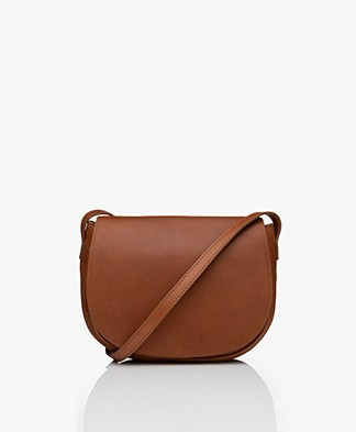 by-bar Paris Leren Cross-body Tas - Cognac