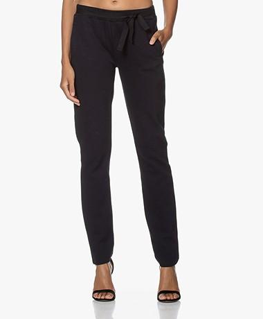 by-bar Jette Tweed Jersey Sweatpants - Dark Navy