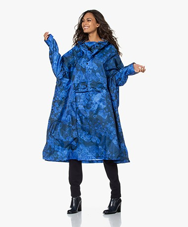 Rainkiss Blue Bubbles Gerecyclede Regenponcho - Blauw