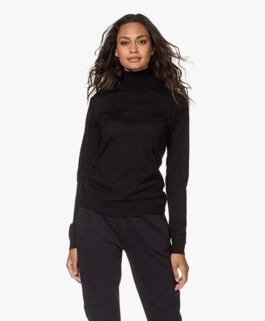 by-bar Lisa Fine Knit Merino Turtleneck - Black