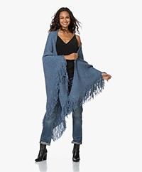 Manos del Uruguay Cadaquez Triangle Scarf - Denim Blue