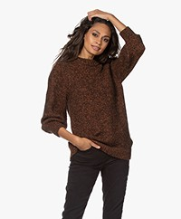 ANINE BING Rosalind Alpaca Blend Sweater - Brown/Rust