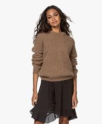 by-bar Lana Alpaca Blend Round Neck Sweater - Camel