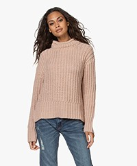 indi & cold Fisherman's Rib Sweater - Rosa Nude