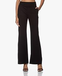 Filippa K Jannie Flared Ponte Jersey Pants - Black