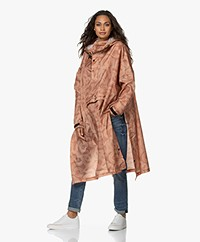 Rainkiss Snakes On A Poncho Recycled Rain Poncho - Blush/Champagne