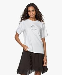 ANINE BING Hudson Monogram T-shirt - Wit