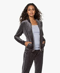 HANRO Favourites Velvet Zip Cardigan - Dust
