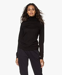 by-bar Lisa Fine Knit Merino Turtleneck - Black