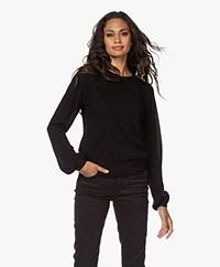 Plein Publique La Coeur Merino Wool Sweater - Black