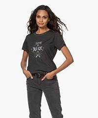 MKT Studio Terock Bio Katoenen T-shirt - Zwart