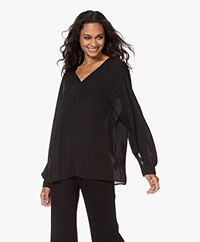 Filippa K Riley Recycled Chiffon Blouse - Black