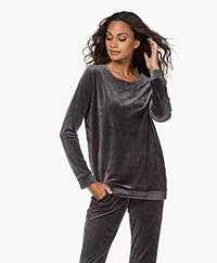 HANRO Favourites Velours Sweatshirt - Dust